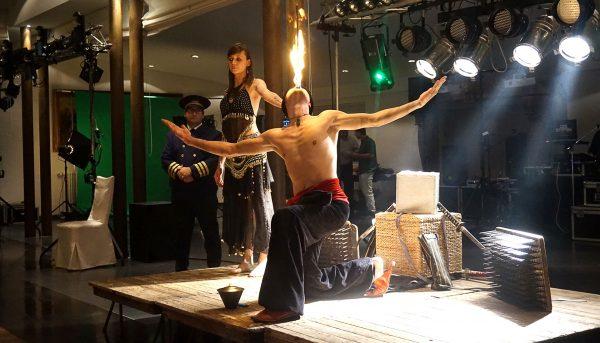 spectacle du fakir, fête du personnel