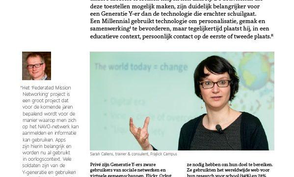 artikel over Generatie Y in Unify tijdschrift
