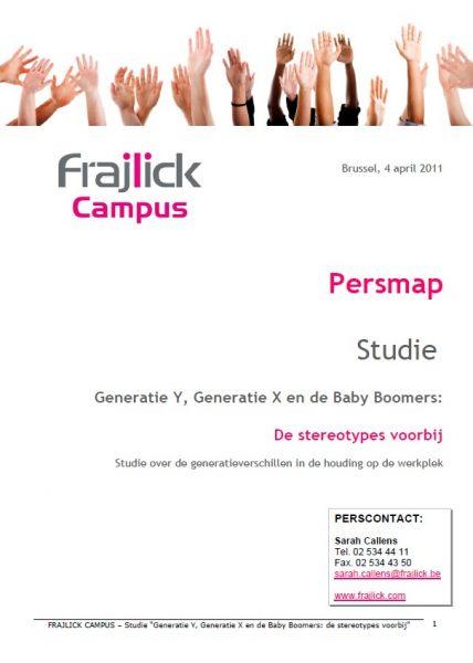 studie Generaties, persmap