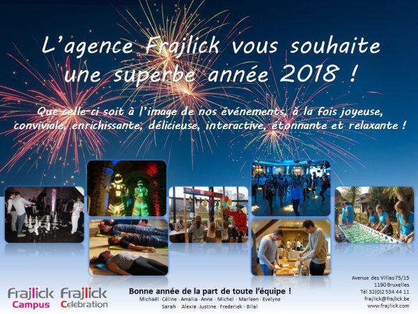 carte de nouvel an 2018 de l'agence Frajlick