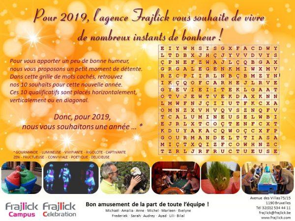 carte de nouvel an 2019 de l'agence Frajlick