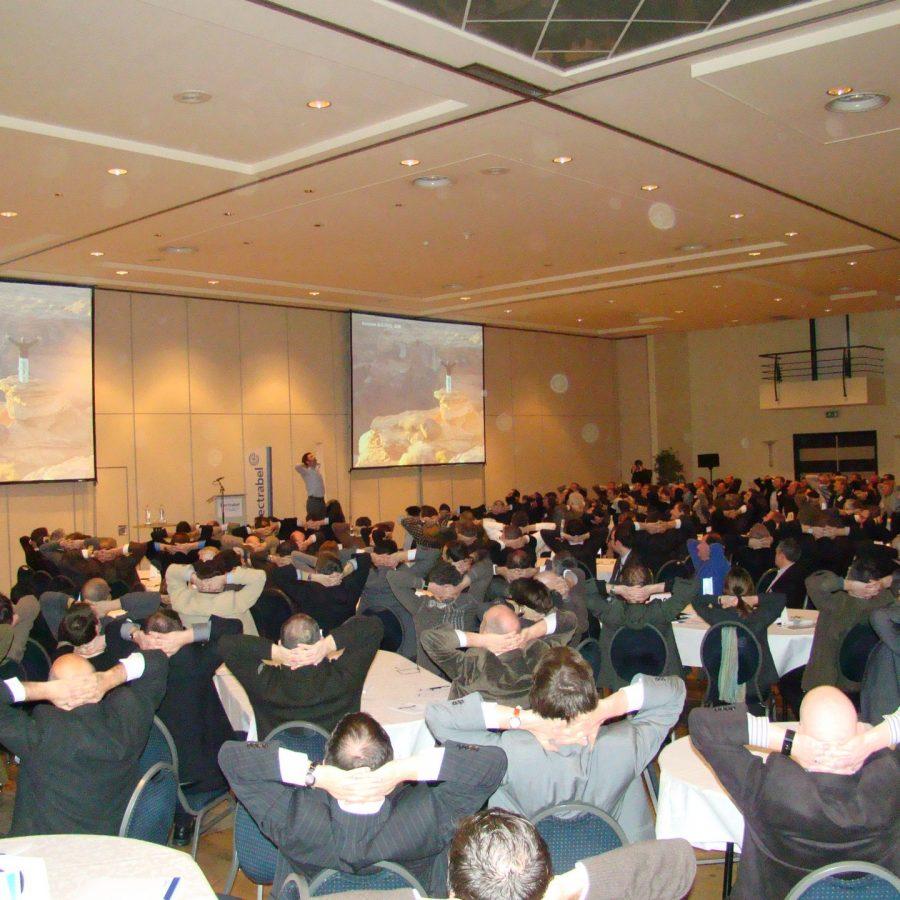 exercice d'énergie durant la convention d'entreprise