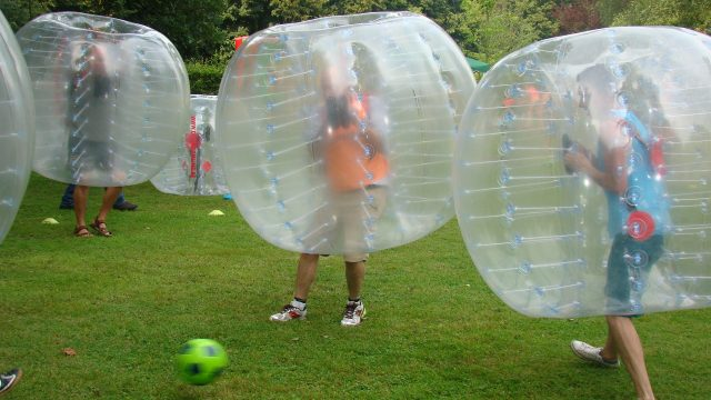 bubble voetbal, family day