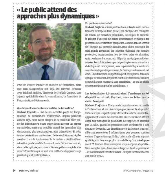 article magazine peoplesphere sur concept mission information