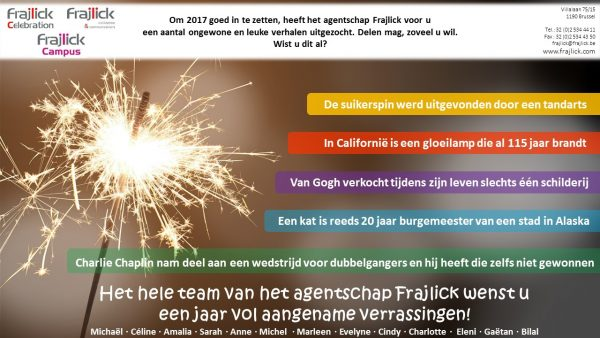 nieuwjaarskaart 2017 van Frajlick bureau