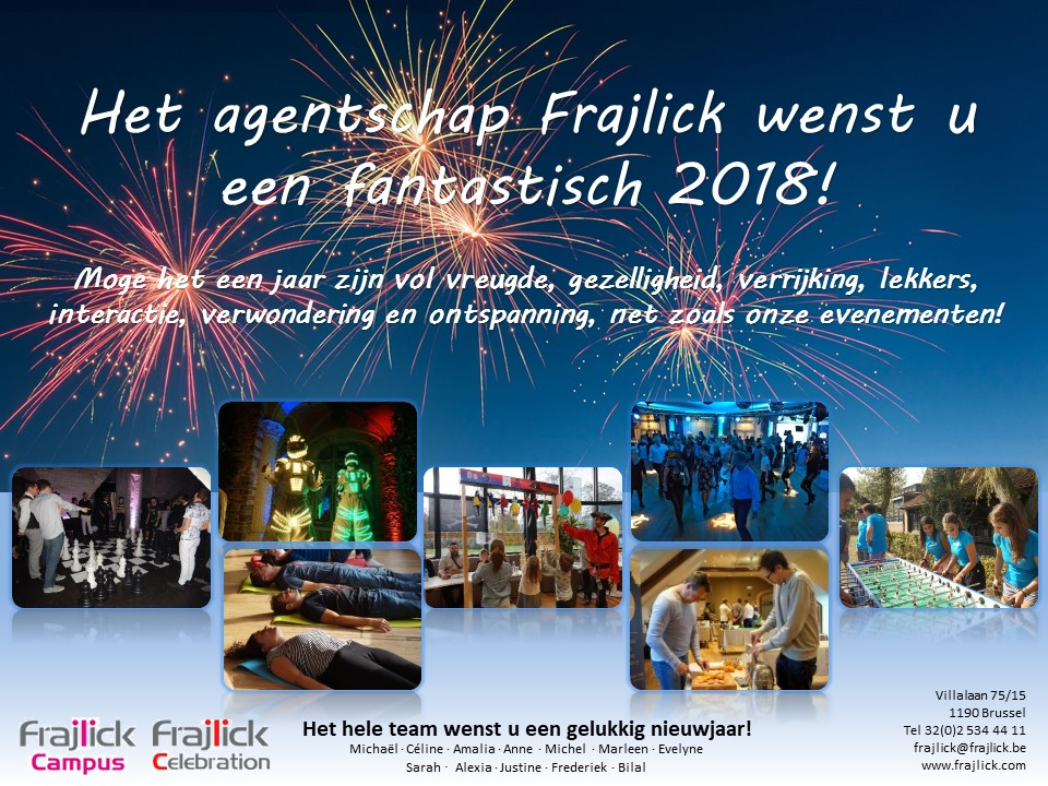 nieuwjaarskaart 2018 van Frajlick bureau