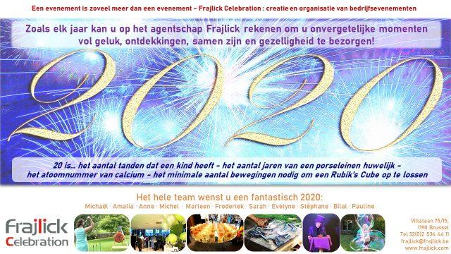 nieuwjaarskaart 2020 van Frajlick bureau