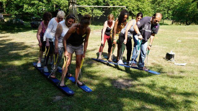 course à ski, teambuilding