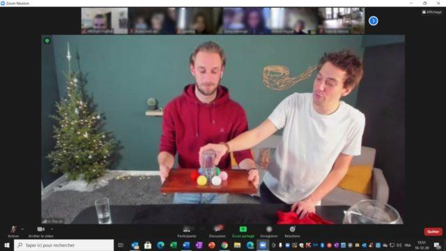 spectacle de magie en ligne pour un teambuilding